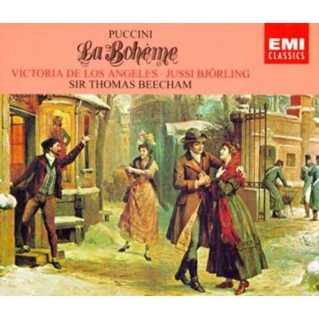 푸치니: 라보엠 (오페라 전곡) - RCA 빅터 오캐스트라/ 콜럼버스 소년합창단/ 토마스 비첨/ 유시 비욜링/ 빅토리아 데 로스 앙헬레스 [2DISCS] [독일반]