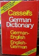 Cassells German Dictionary  -German-English / English-German  -구하기 어려운 사전-독일어-영어 /영어-독일어사전-아래사진참조-