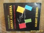 외국판 WELLESLEY / 4판 Introduction to LINEAR ALGEBRA / GILBERT STRANG -사진.꼭 상세란참조