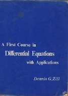 A First Course in Differential Equations witjh Applications
