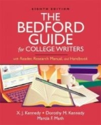 Bedford Guide for College Writers, 8/e : With Reader, Research Manual, and Handbook 표지앞면에 접힌 자국 있음 / 공부흔적 거의 없음