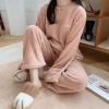 어나더뷰 극세사 파스텔 수면잠옷 상하세트 1121