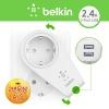 [belkin]벨킨 DUAL USB CHARGER AC PASS콘센트