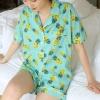 파인애플 잠옷 파자마세트(상의+하의+수면안대)