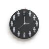 코드에이블 미니피규어 DIY 원형벽시계(블랙)