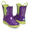 PURPLE GREEN RUBBER RAIN BOOTS TINY