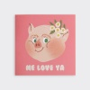 Piggy Smile Folding Card