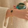 vintage leather chain bracelet_2color