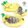 [딩동펫]강아지 바나나방석 강아지방석