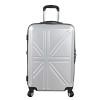 영국국기 패턴 20형-실버 캐리어 여행가방