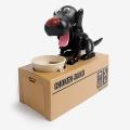 [인디고샵] 동전 먹는 블랙 강아지 저금통