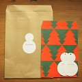 CHRISTMAS ENVELOPE & TAG SET _snowman 