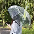 [A Rainy Day] RAIN DROP POE 비닐 우산-BLACK