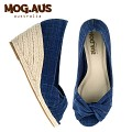 [MOG.AUS] Basic Canvas Wedge MG13SFWG5514_NAVY