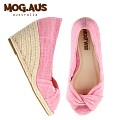 [MOG.AUS] Basic Canvas Wedge MG13SFWG5514_PINK