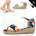 Rose Wedge Sandal [KEJ70186]