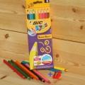 [BiC] 빅 키즈 컬러링 8색 크레파스 색연필-Super Soft JUMBO HA163-2