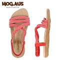 [MOG.AUS]Weaving Leather Flat Sandal MG13SFSD5521_PINK