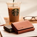 Vegetable Tanned Leather Minerva Box Business card wallet