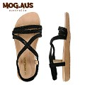 [MOG.AUS]Weaving Leather Flat Sandal MG13SFSD5521_BLACK