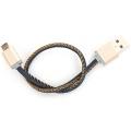 Plusus LifeStar Micro USB Cable Denim Blues 25 cm
