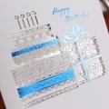 레이스 케이크 스와로브스키스톤 생일카드 / 035-SG-0004
