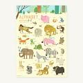 [썸띵인] 알파벳 동물 포스터 1-A2캔버스(42x59cm)