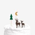 [인디고샵 ]겨울 숲속의 순록 데코픽 4set