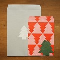 CHRISTMAS ENVELOPE & TAG SET _tree 
