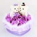 (C.B.G.B) Couple Bear GIFT BOX [퍼플]