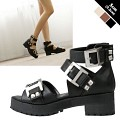 Buckle Point Gladiator Sandal [KEJ70190]