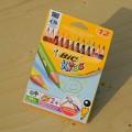 [BiC] 그립감이 좋은 삼각형 바디의-프랑스 빅 KIDS Evolution 삼각 점보 색연필 12색 HA108-1