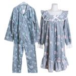 [쿠비카]양면 극세사 스퀘어넥 원피스 커플잠옷 WM204