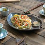 일본식기 나뭇잎 나눔접시