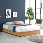 프레드 3단 수납형 침대 퀸Q+독립볼라텍스 매트리스