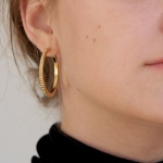 simple dot earring - L