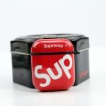 에어팟 1/2 SUP 실리콘 케이스 철가루스티커_레드 424
