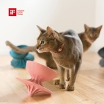 몬도미오펫 팽이식기 고양이식기 식탁 Pink
