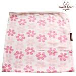 [스윗하트]무형광코튼 핑크꽃밭 아기블랭킷