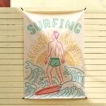 서핑 일러스트 패브릭 포스터 / 가리개 커튼