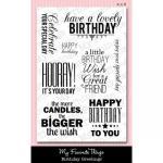 클리어 스탬프 LJD Birthday Greetings