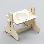 힐링타임 높이조절 원목식탁-1구 (도자기/화이트) sj