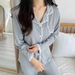 슬림핏 레이스 파자마 여성 잠옷 세트