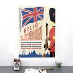 카발리니 포스터+보관통 Set - London
