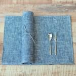 헤링본 방수식탁매트(블루)
