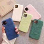 아이폰11 심플 데일리 겨울 뽀글 양털 소프트 케이스