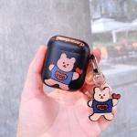 에어팟 케이스 1 2세대 곰돌이 키링 하드 471 블랙