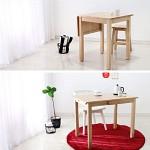 벤트리 원목 원목 슬라이딩 테이블 소