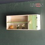리브온(LIVOON) 원목 레프트 도어 벽선반