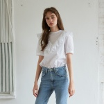FRILLY BLOUSE _ WHITE